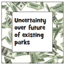 Uncertainty over future of existing parks