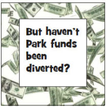 But haven't Park funds been diverted?